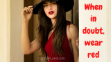 50 Red Dress Captions and Quotes for Instagram